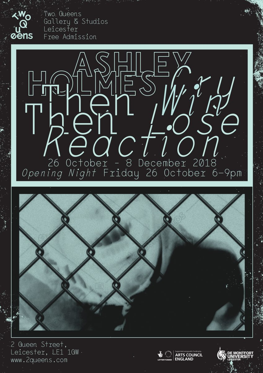 Ashley Holmes exhibition poster