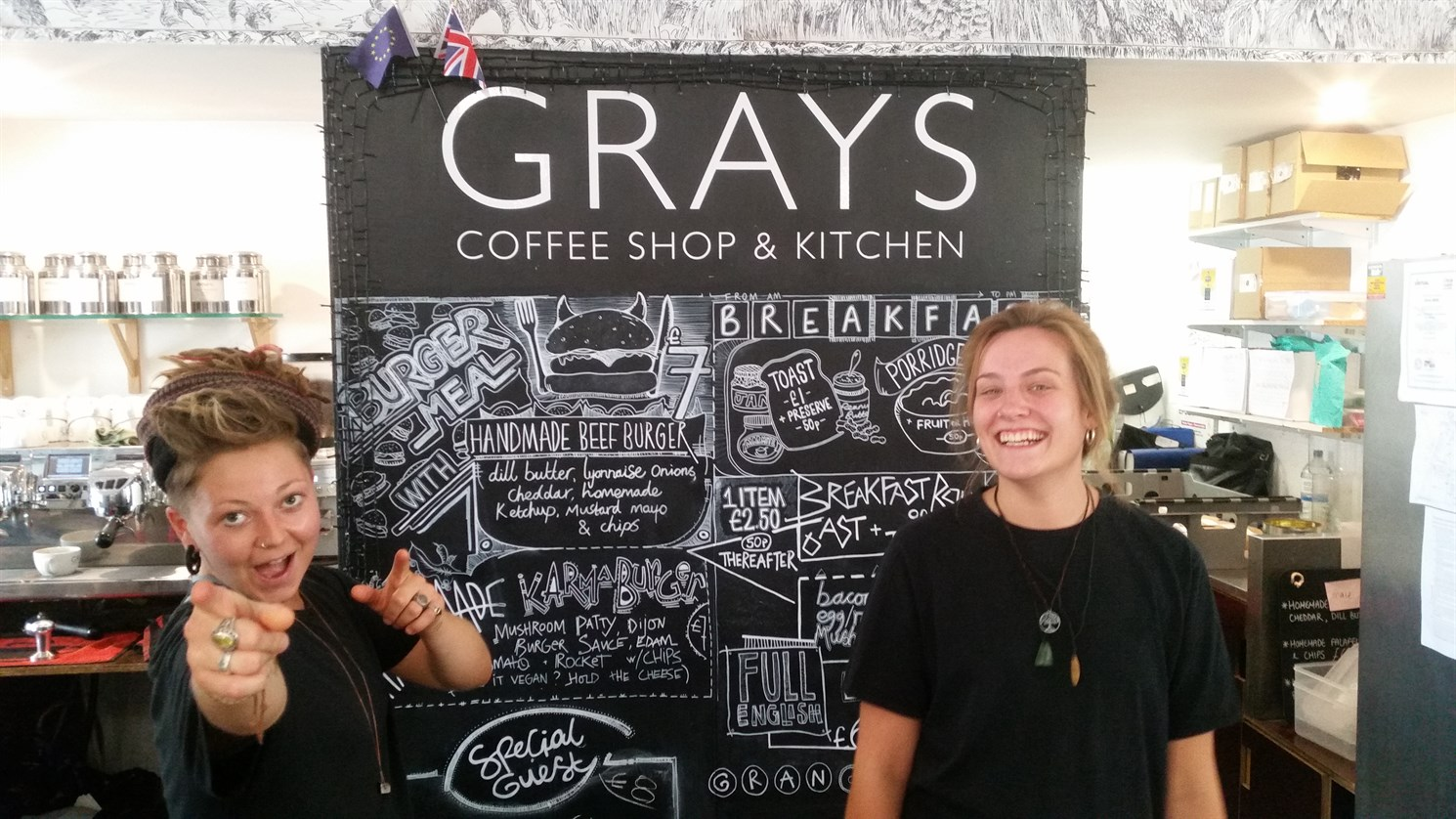Eat, meet, drink in our cafe-bar - Grays Coffee Shop & Kitchen
