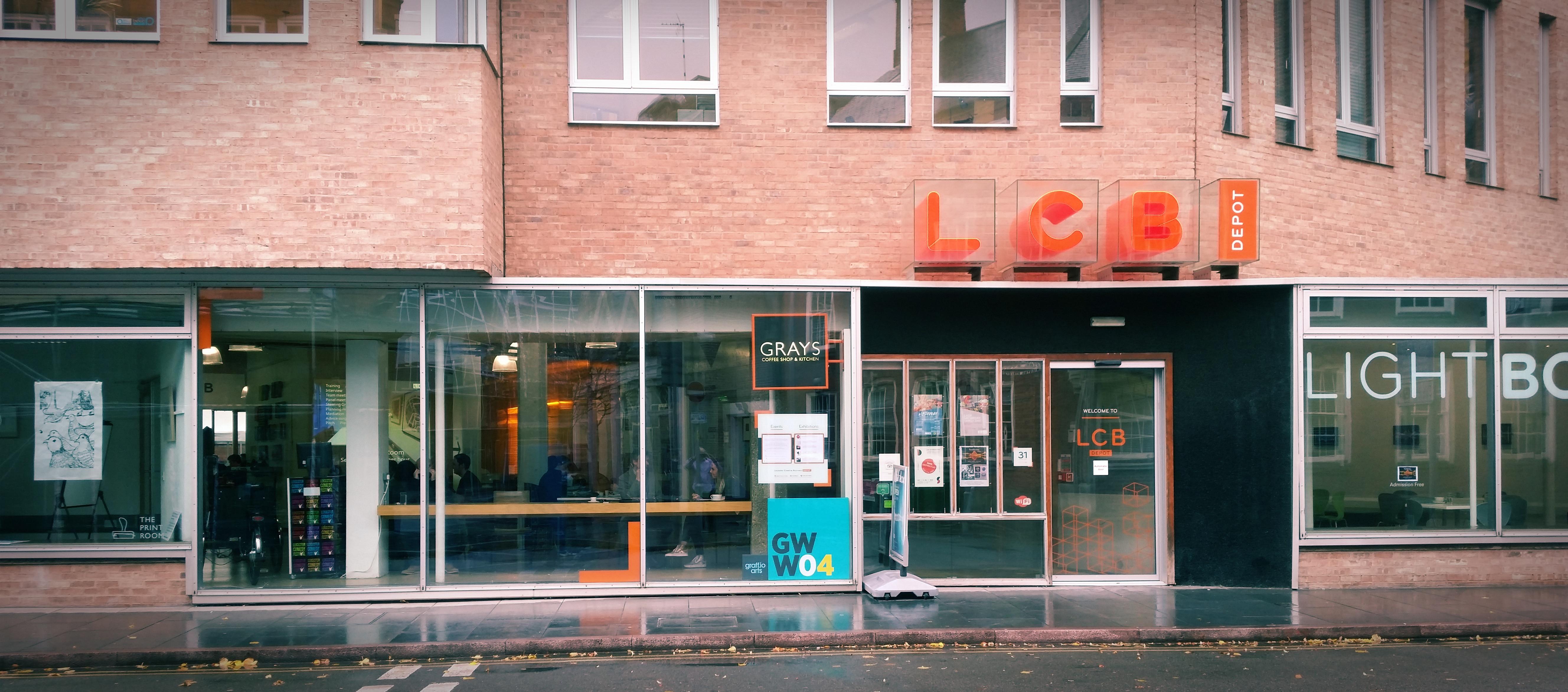 Front of LCB Depot in Rutland Street
