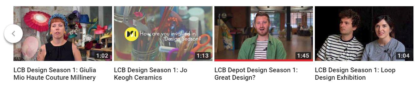 Design Season videos on YouTube - click link below
