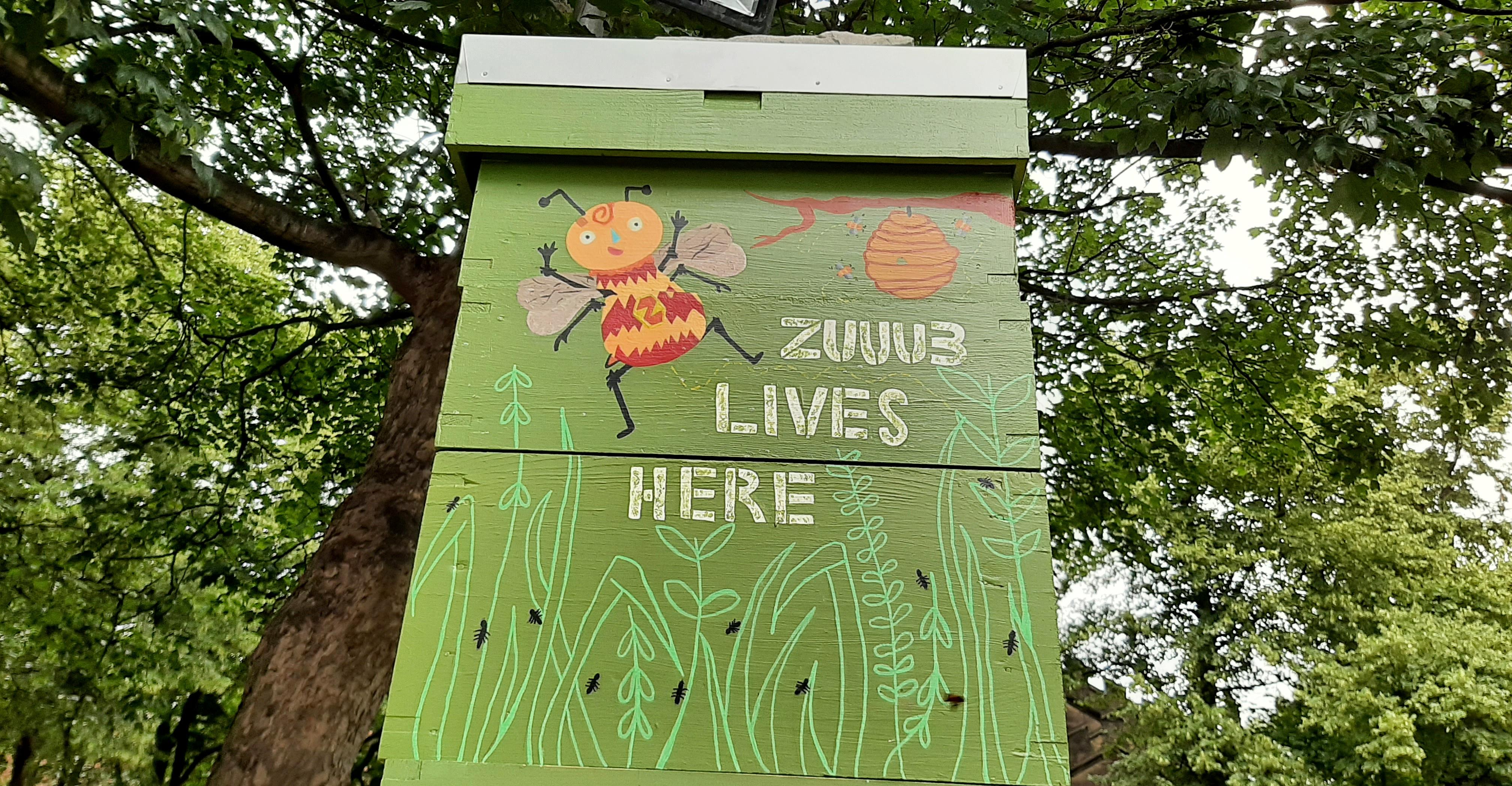Elsie Bees beehive at LCB
