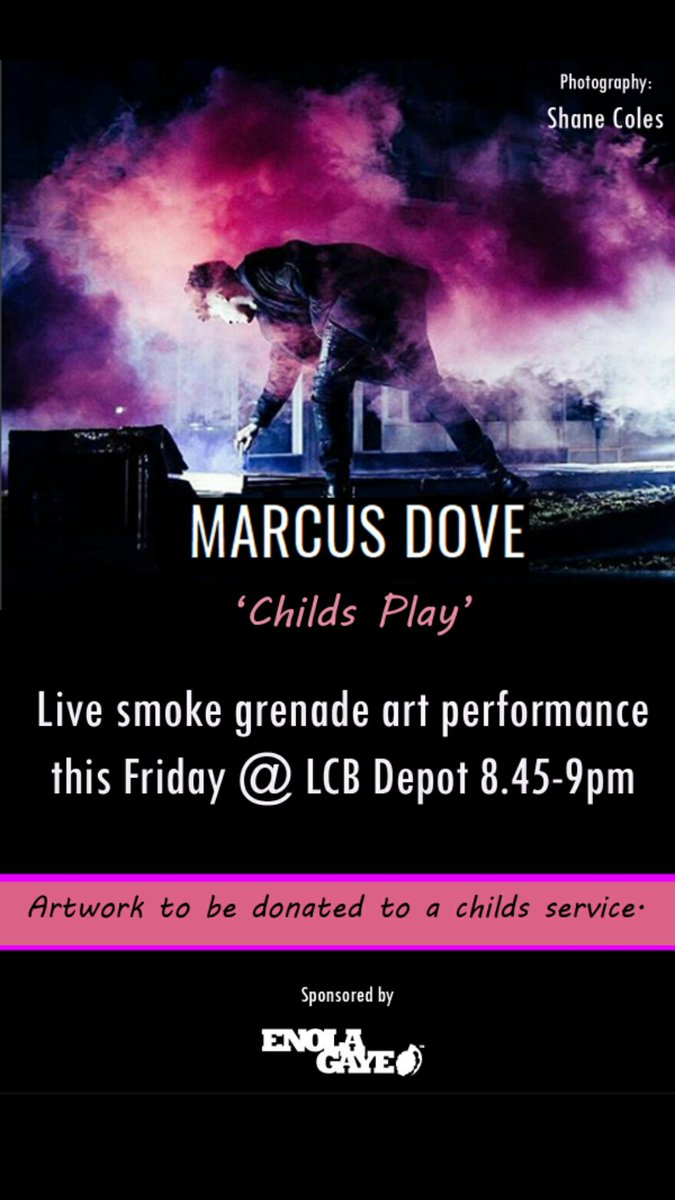 Marcus Dove's Child's Play performance