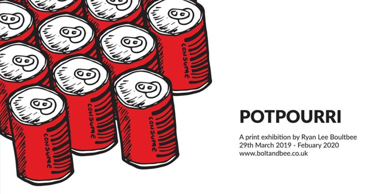 Potpourri exhibition poster