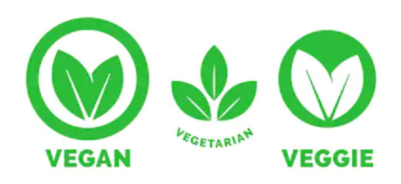 vegan and veggie logos