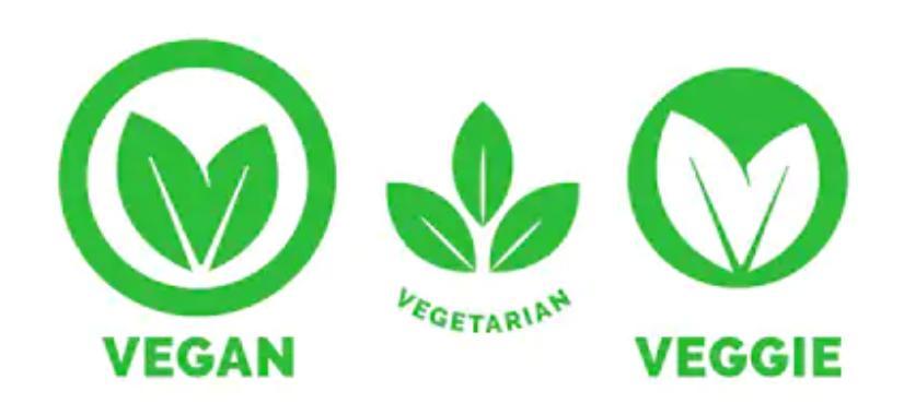vegan and veggie logos