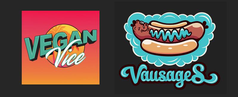 vegan vice and vausages logos